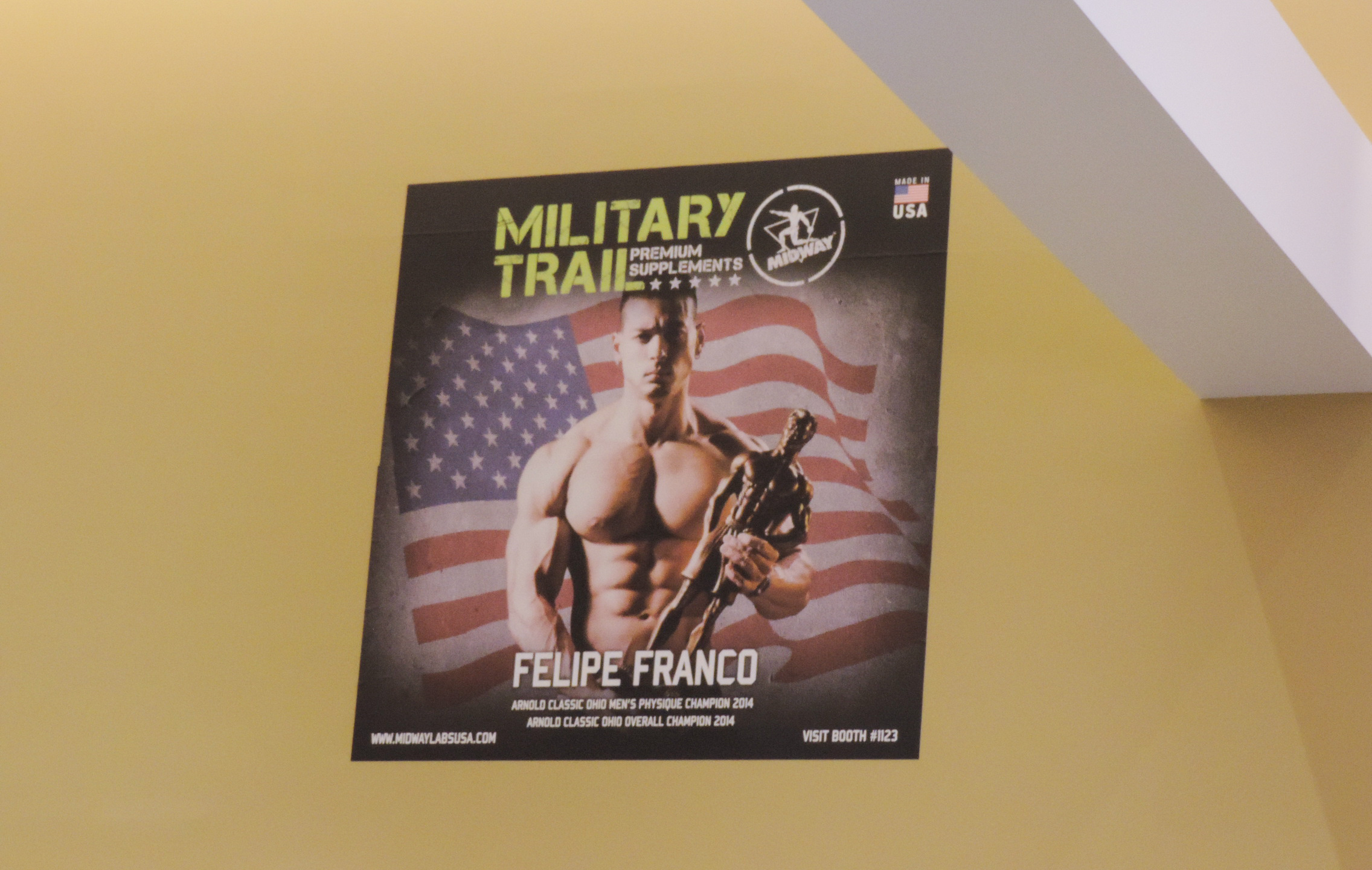 Felipe Franco Military Trail Poster. Arnold Classic Ohio Men