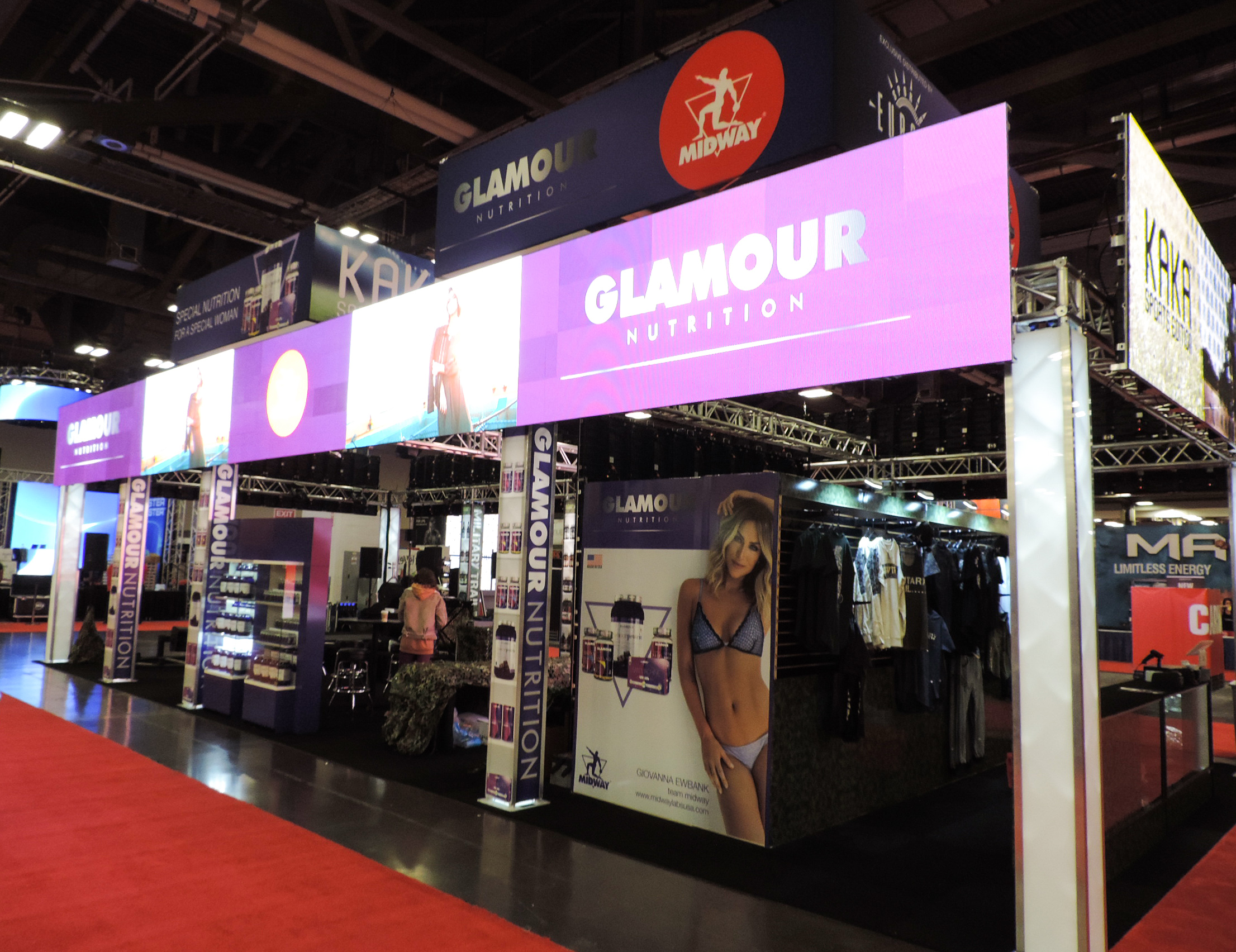 Glamour Nutrition Booth.