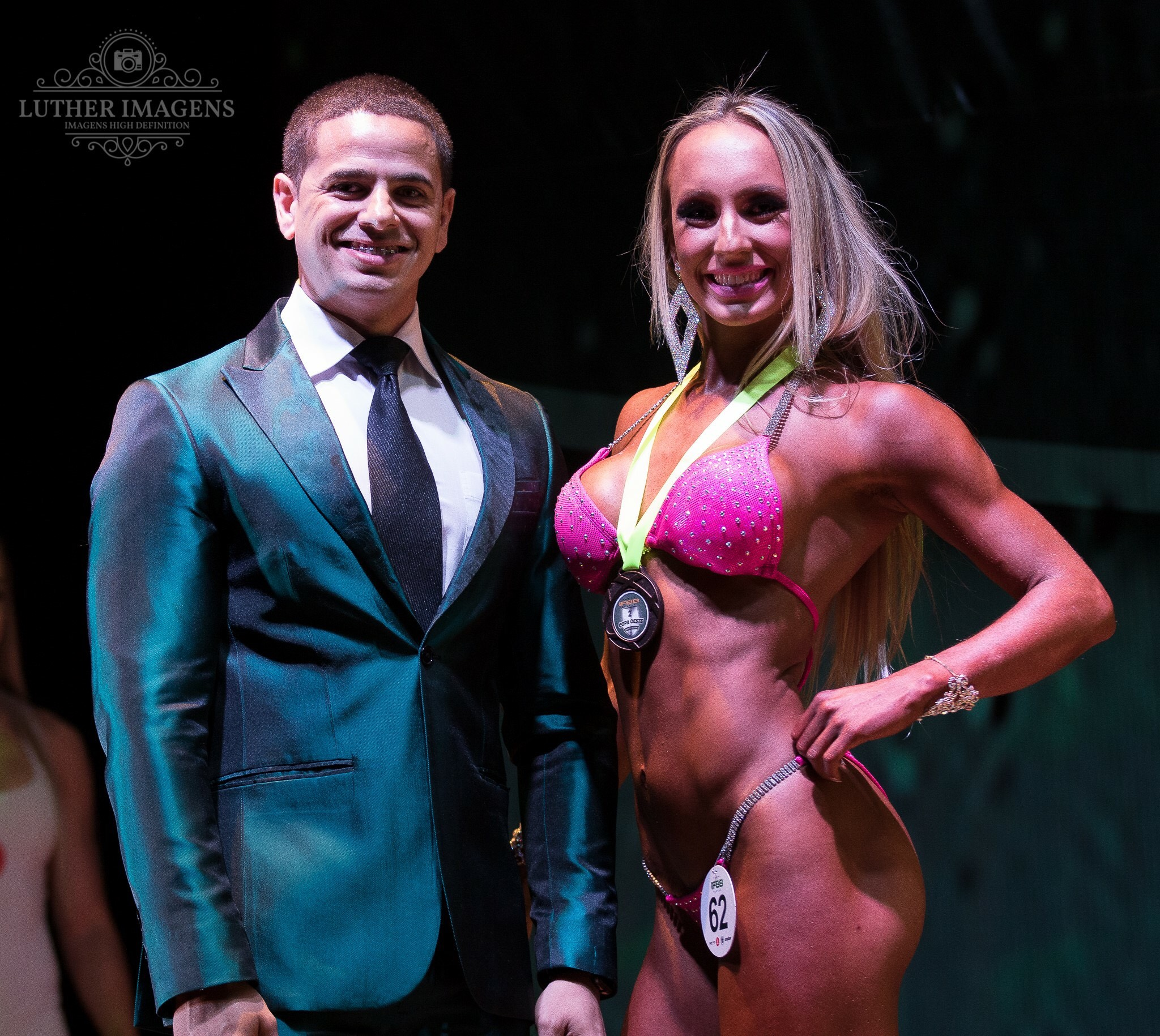Gabriel Marrom and Marina Beraldinelli at the IFBB Paraná