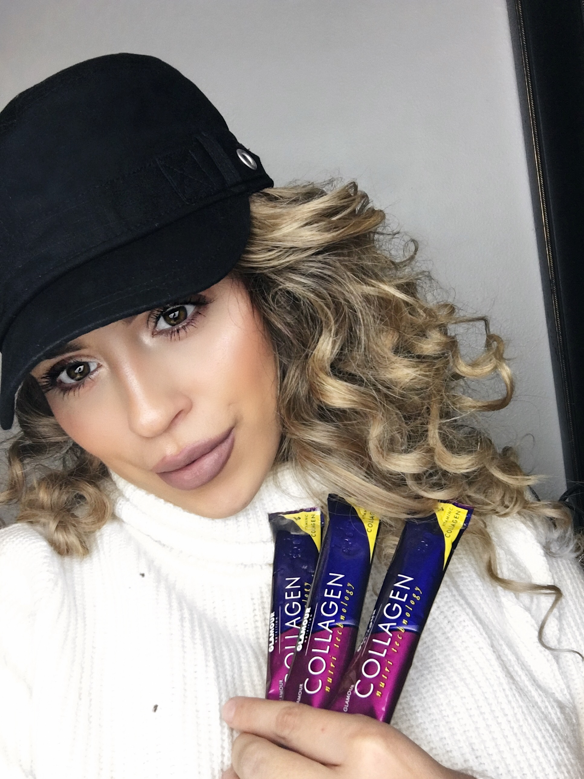 Cristal Garcia with her Glamour Collagen – Glamour Nutrition