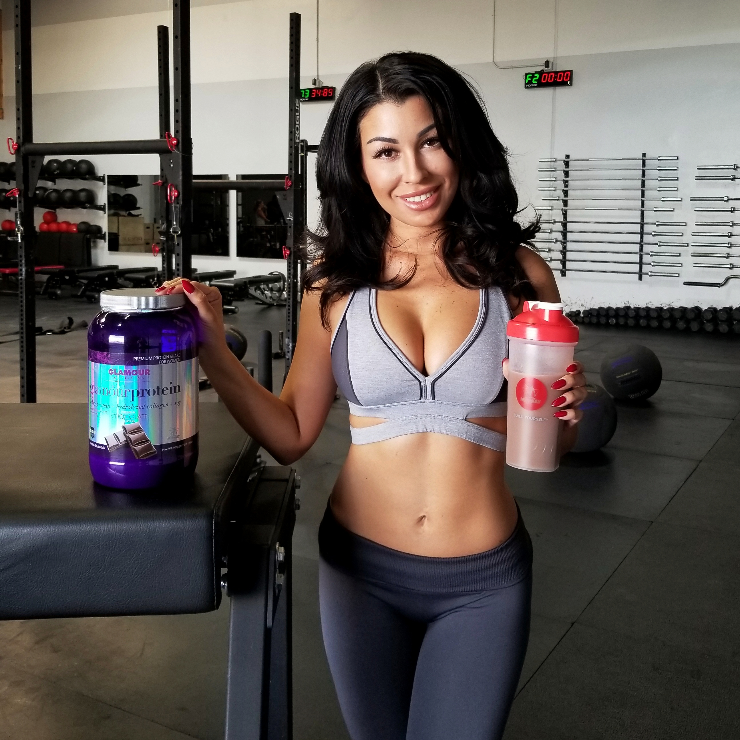 Victoria Elise lovin' her Glamour Protein – Midway Labs USA product line, Glamour Nutrition