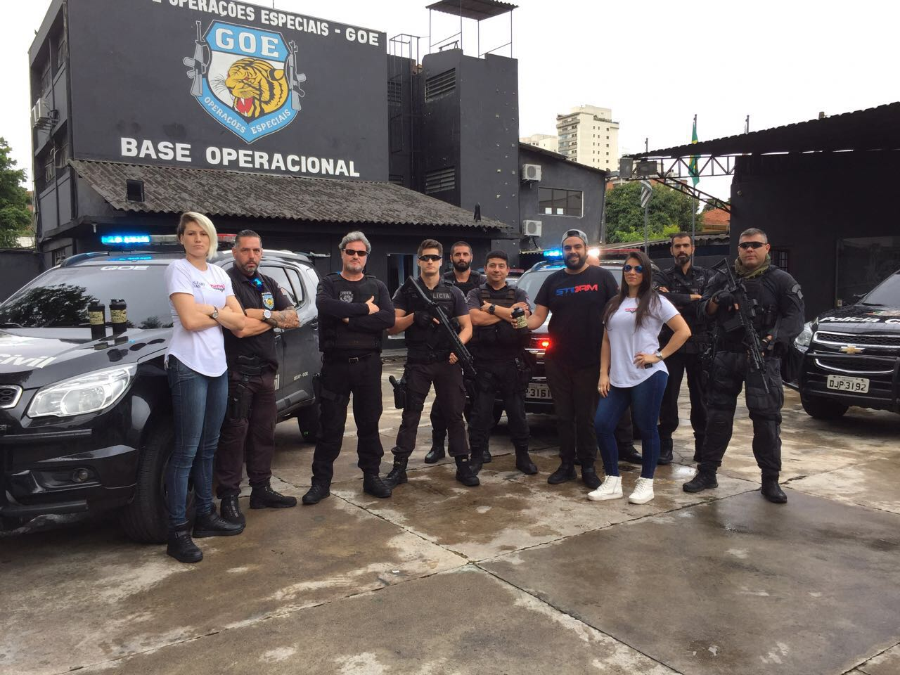 Midway Labs visits the Operational Base Police in Brasil