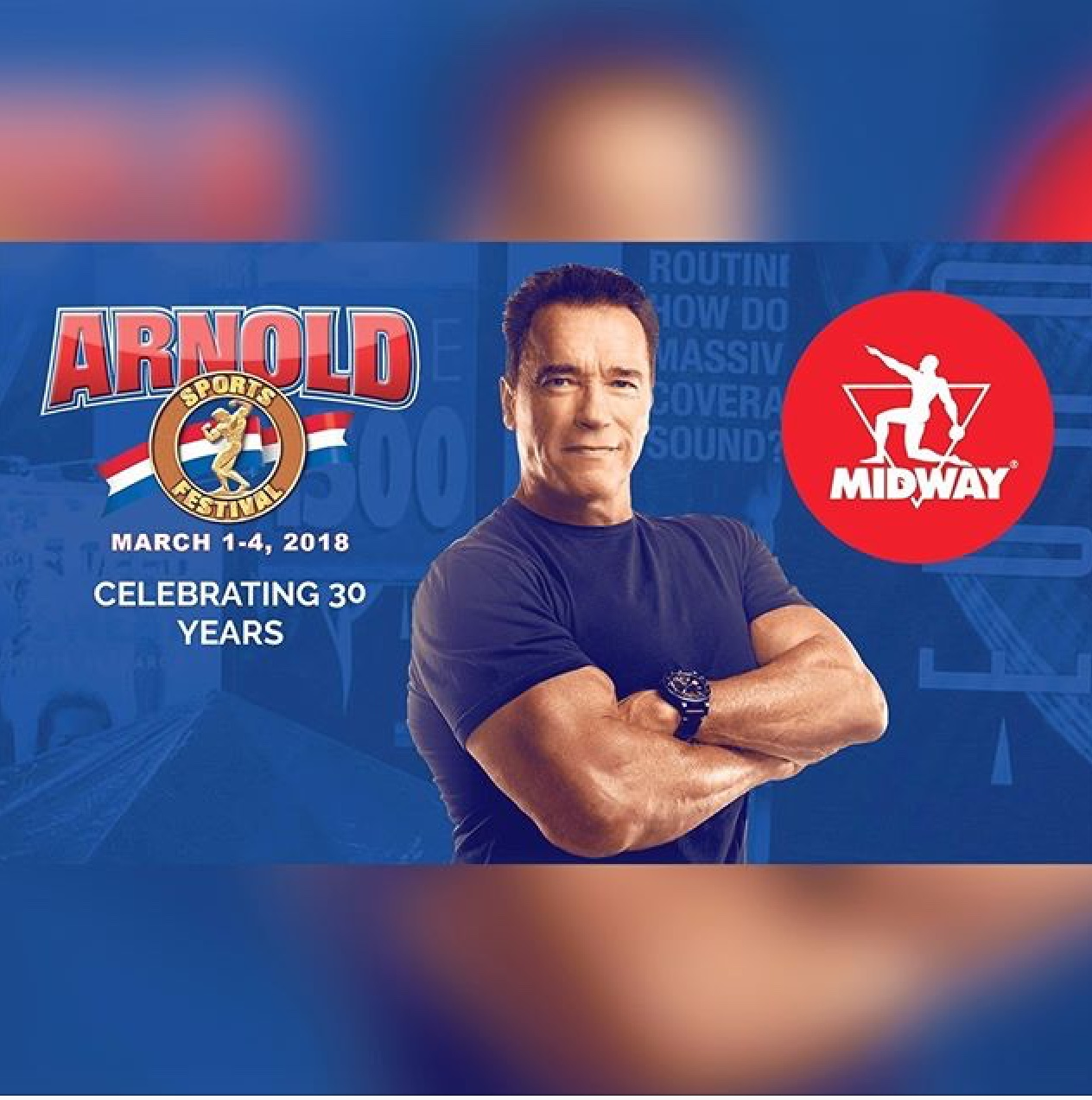Midway Labs is the above the line sponsor for Arnold Classic Ohio 2018