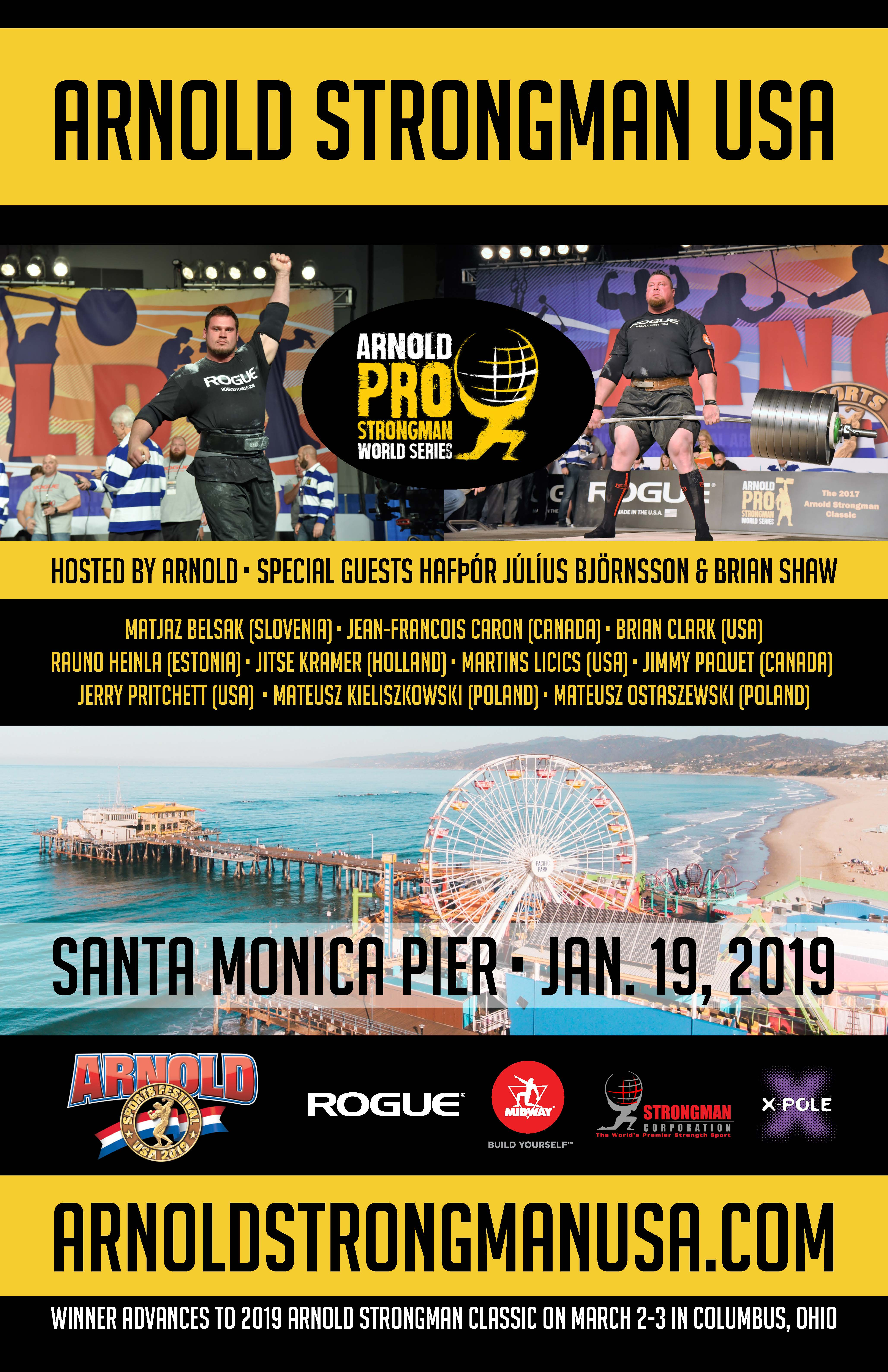 Arnold Pro Strongman World Series Held at Santa Monica Pier