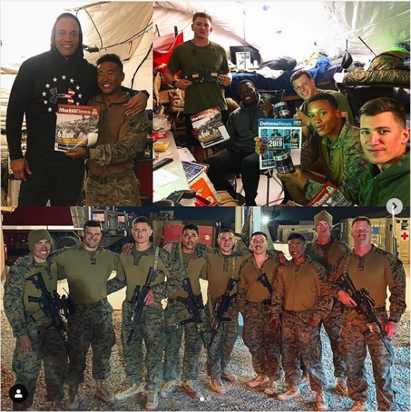 Marines in combat zone receive Military Trail supplements!