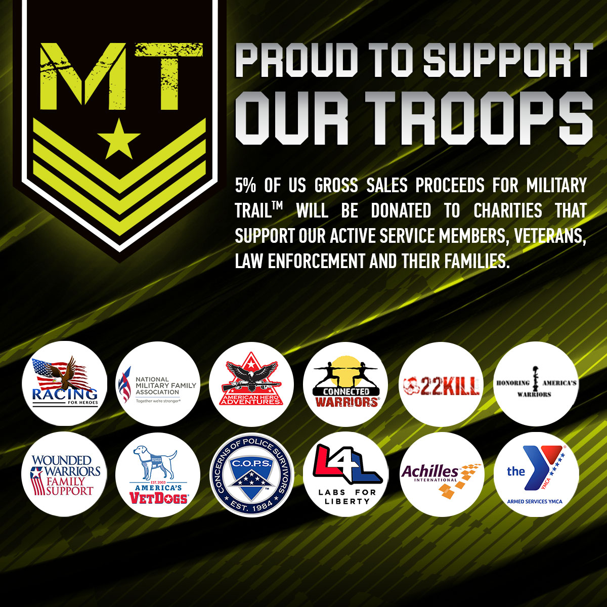 Military Trail Donates to Charities Supporting Active Service Members, Veterans & Their Families